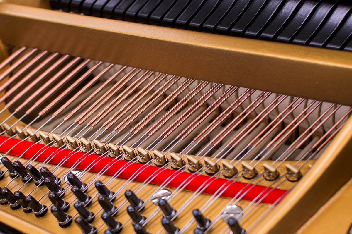 Steinway Model L Grand Piano Pins And Bass Strings on Upright Piano Parts