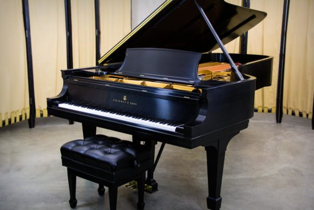 Steinway Model D Concert Grand Piano in Satin Ebony - For Sale by Chupp's Piano Service