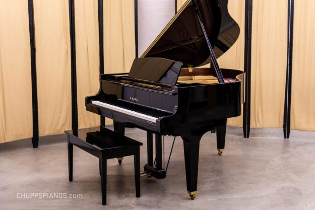 Kawai GE-30 Grand Piano #2546538 - Polished Ebony - For Sale