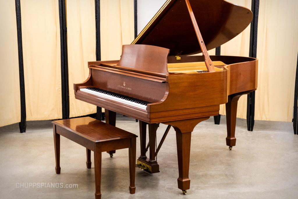1984 Steinway & Sons Model M Grand Piano #489053 Walnut Finish - Ready to Purchase