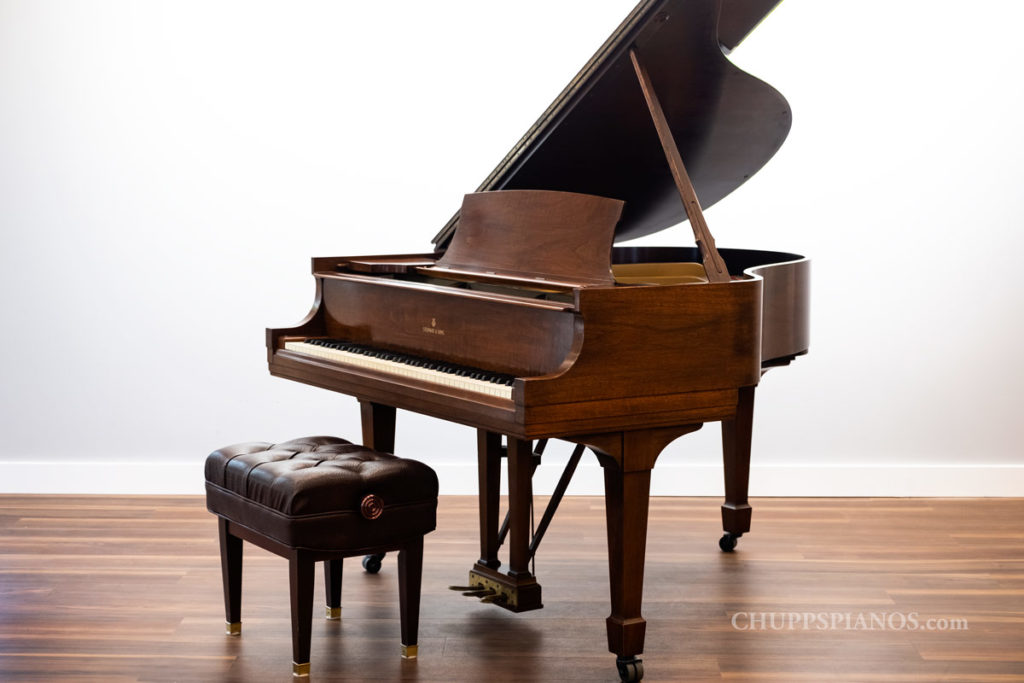 1935 Steinway & Sons Model S Grand Piano for Sale | Satin Walnut - Original Condition Steinway