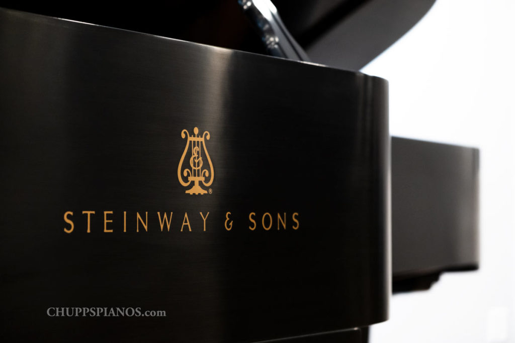 1949 Steinway & Sons Model D Concert Grand Piano #329504 - Side Decal - Steinway & Sons Logo